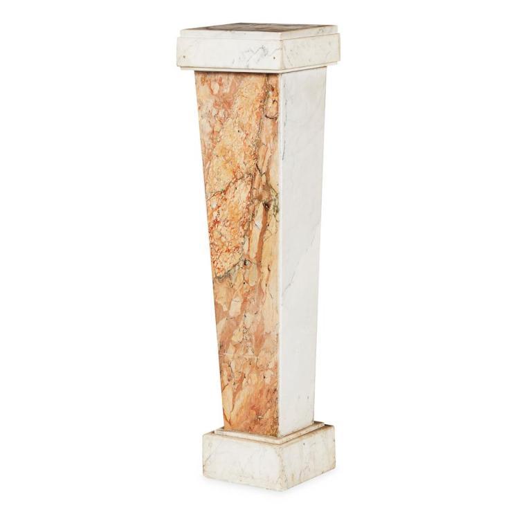 CLASSICAL STYLE MARBLE COLUMN 31cm wide, 112cm high, 26cm deep