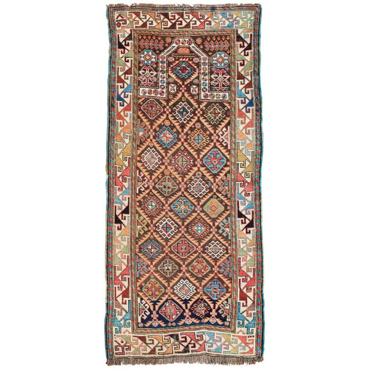 AKSTAFA PRAYER RUG EAST CAUCASUS, LATE 19TH CENTURY 185cm x 83cm
