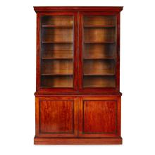 EARLY VICTORIAN MAHOGANY LIBRARY BOOKCASE MID 19TH CENTURY 155cm wide, 246cm high, 48cm deep