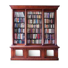 LARGE EARLY VICTORIAN MAHOGANY LIBRARY BOOKCASE 19TH CENTURY 257cm wide, 278cm high, 60cm deep
