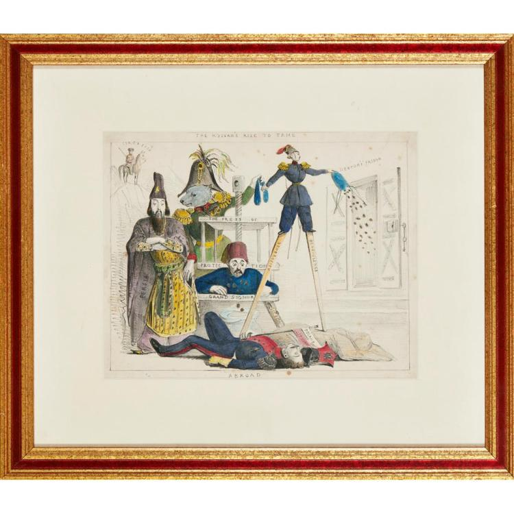 ENGLISH SCHOOL THE KOSSACK MAKES HIMSELF AGREEABLE AT HOME/ABROAD 20cm x 27cm (8in x 10.5in) (4)