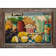 WILSON BIGAUD (HAITIAN 1931-2010) STILL-LIFE WITH FRUIT 40cm x 60cm (16in x20in)