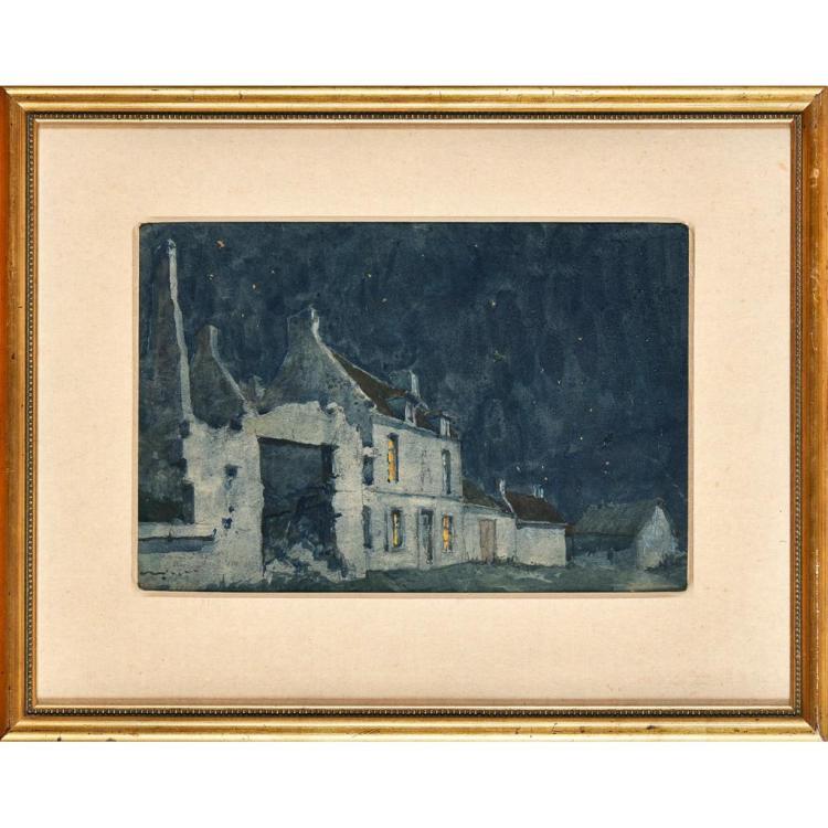 ALBERT MOULTON FOWERAKER (BRITISH 1873-1941) STARRY SKY 27cm x 41cm (10.5in x 16in)