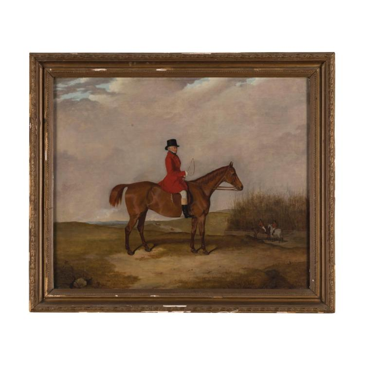 ALFRED WILLIAM INGPEN (BRITISH 19TH CENTURY) GENTLEMAN ON HORSEBACK 61.5cm x 74.5cm (24.25in x 29.25in)