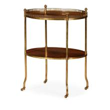 REGENCY ROSEWOOD AND BRASS ETAGERE EARLY 19TH CENTURY 56.5cm wide, 72cm high, 47cm deep