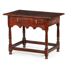 WILLIAM AND MARY OAK SIDE TABLE 17TH CENTURY 87cm wide, 70cm high, 68cm deep