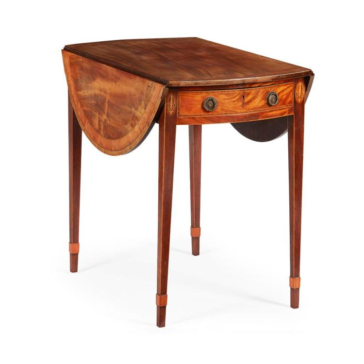 GEORGE III MAHOGANY PEMBROKE TABLE LATE 18TH CENTURY 47cm wide (open), 71cm high, 76cm deep