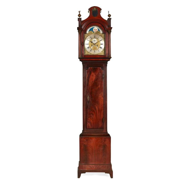 GEORGE III MAHOGANY LONGCASE CLOCK, BY THOMAS HUTCHINSON, LEEDS 18TH CENTURY 48cm wide, 246cm high, 23cm deep