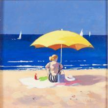 [§] JAMES ORR (SCOTTISH B. 1937) THE YELLOW SUNSHINE - AUGUST 1994 19.5cm x 19.5cm (7.75in x 7.75in)