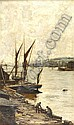 JAMES CAMPBELL NOBLE R.S.A (1846-1913) ON THE MEDWAY 127cm x 75cm (50in x 30in), James Campbell Noble, Click for value