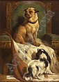 EDWIN DOUGLAS (1848-1914) ''GEORDIE SITS IN CHARLIE''S CHAIR'' 98.5cm x 71cm (39in x 28in), Edwin Douglas, Click for value
