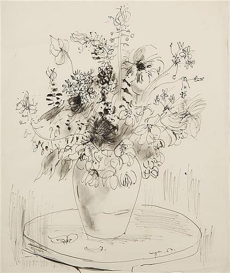 GLYN MORGAN (B.1926) VASE OF FLOWERS 46cm x 38cm (18in x 15in)