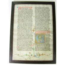 Manuscript leaf from an Office Lectionary of Benedictine use
