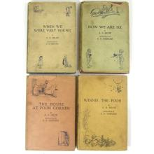 Milne, A.A. , 4 volumes, comprising