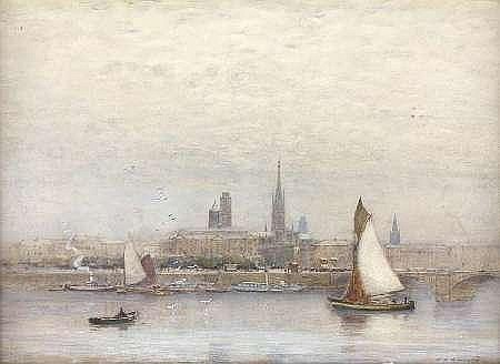 JAMES GARDEN LAING R.S.W (1852-1915) ROUEN 51cm x 70cm (20in x 27.5in)