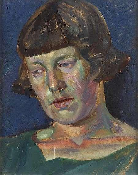 WILLIAM MCCANCE (1894-1970) PORTRAIT STUDY OF AGNES MILLER PARKER 27cm x 21.5cm (10.5in x 8.5in)