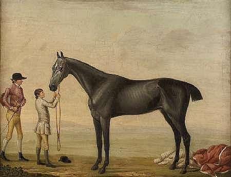 THOMAS BRETLAND (1802-1874) BEFORE THE HUNT 84cm x 104cm (33in x 41in)