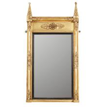 REGENCY GILTWOOD AND GESSO PIER MIRROR EARLY 19TH CENTURY 120cm high, 62cm wide