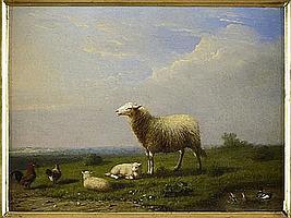 FRANZ VON SEVERDONCK (BELGIAN 1826-1904) SHEEP