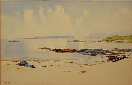 MARY HOLDEN BIRD (SCOTTISH FL 1923-1936) PEACE OF SUMMER 39cm x 60.5cm (15.2in x 23.6in)