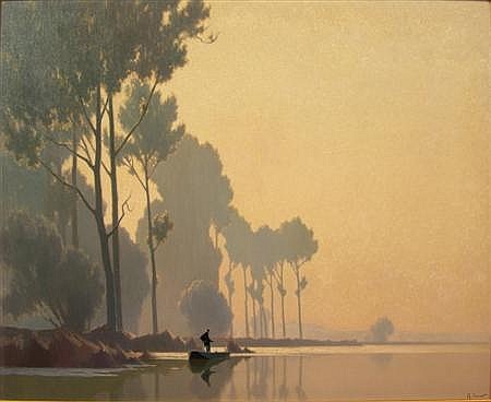 ALEXANDRE JACOB (FRENCH 1876-1972)) EARLY MORNING 64cm x 80cm (25in x 31.5cm )