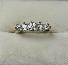 A five stone diamond ring Ring size: L