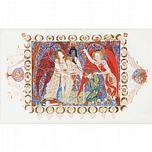 PHOEBE ANNA TRAQUAIR (1852-1936) THE ANGELS OF DESTINY 12cm x 19cm