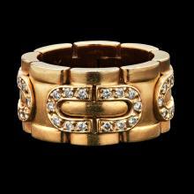 CARTIER - A diamond set ring Ring size: M/N