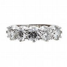 A five stone diamond ring Ring size: M, estimated total diamond weight: 2.06cts