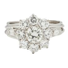 A diamond set cluster ring Ring size: M, estimated total diamond weight: 2.46cts