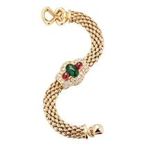A multi-gem set bracelet Length: 19cm
