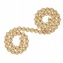 A long decorative neck chain Length: 80cm