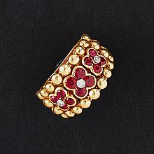 MOUAWAD - A ruby and diamond set ring Ring size: K/L