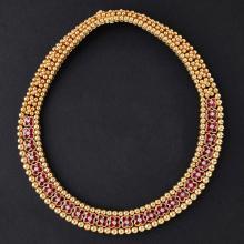 MOUAWAD - A ruby and diamond set necklace Length: 41cm