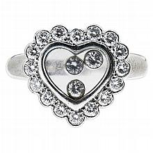 CHOPARD - A 'Happy Diamonds' ring Ring size: F