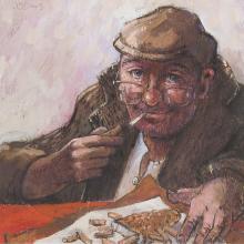 § JAMES S. DAVIS (SCOTTISH 1944-) 'WANT A CHIP?'