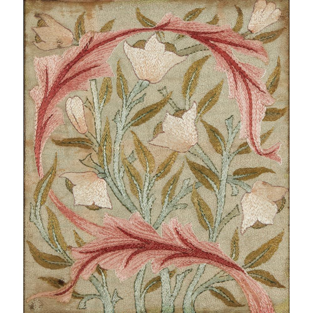 MAY MORRIS (1862-1938) FOR MORRIS & CO. EMBROIDERED PANEL, CIRCA 1890