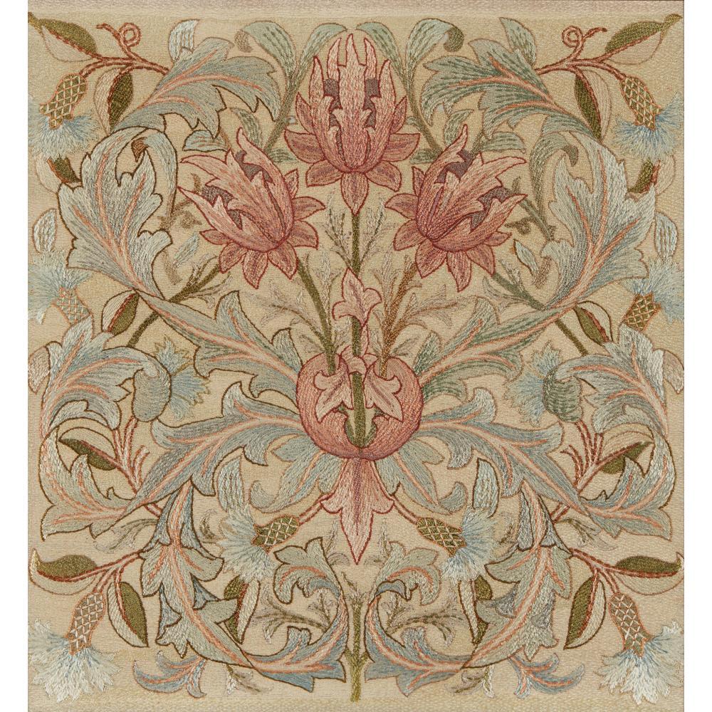 MORRIS & CO. EMBROIDERED PANEL, CIRCA 1890
