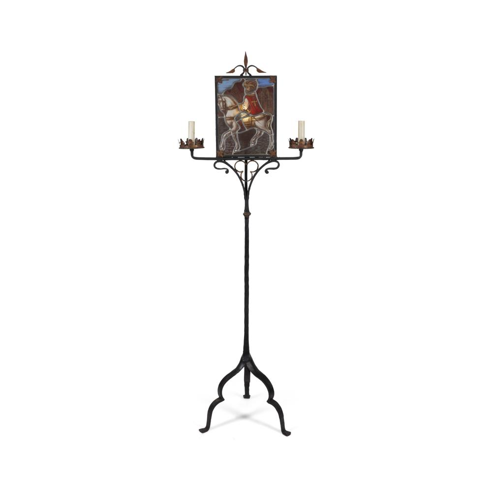 ENGLISH GOTHIC REVIVAL STANDING LAMP, CIRCA 1915