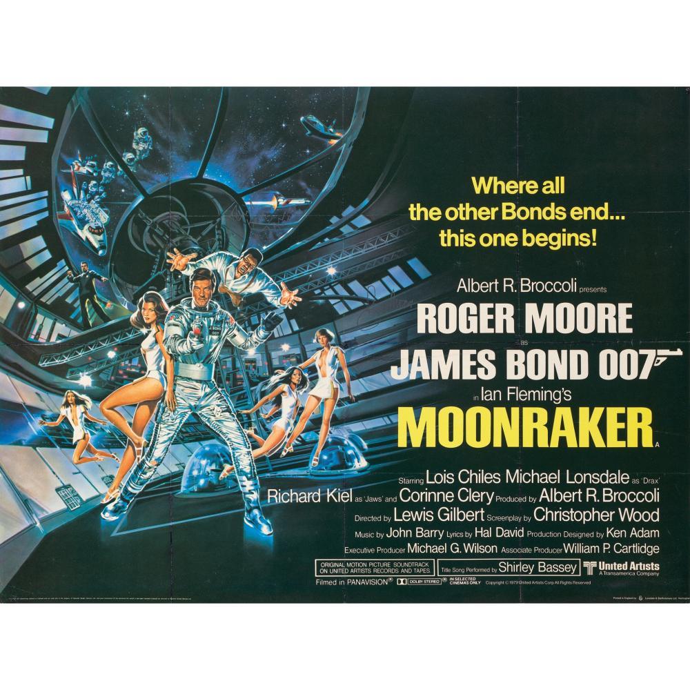 DAN GOOZEE (B.1943) MOONRAKER, SIGNED BY ROGER MOORE
