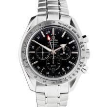 OMEGA – A gentleman's stainless steel cased chronograph Dial diameter: 34mm