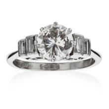 A 1940s diamond solitaire ring Ring size: M, estimated principal diamond weight: 1.33cts