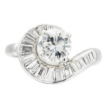 A diamond cluster ring Ring size: Q, estimated principal diamond weight: 1.51cts
