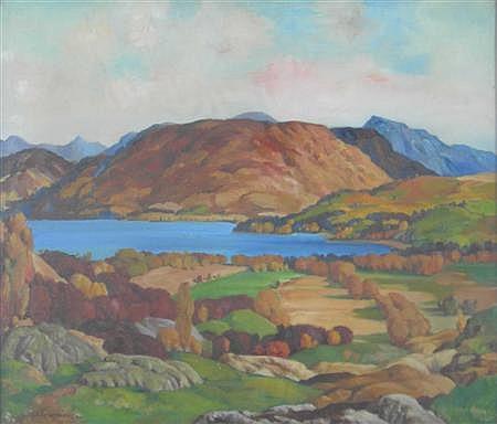 JAMES TORRINGTON BELL (SCOTTISH 1898-1970) LOCH EARNHEAD 50cm x 60cm (19.75in x 23.5in)