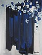 STANISLAUS RAPOTEC (AUSTRALIAN 1913-1997) STILL LIFE OF BLUE FLOWERS 135cm x 104cm (53.25in x 41in), Stanislaus Rapotec, Click for value