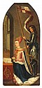 19TH CENTURY COPY AFTER HUGO VAN DER GOES ST GEORGE AND QUEEN MARGARET OF DENMARK 28cm x 12.5cm (11in x 5in)