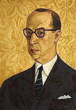 OSWALDO GUAYASAMIN (ECUADOREAN 1919-1999) HALF LENGTH PORTRAIT OF LUIS ANTONIO PENAHERRERA 89cm x 63cm (35in x 25in)
