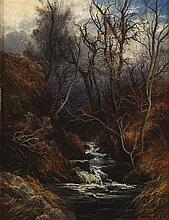 JAMES FAED JNR (SCOTTISH 1856-1920) IN A HILL GLEN 32cm x 25.5cm (12in x 10in)
