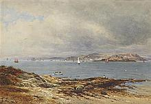 WALLER HUGH PATON R.S.A., R.S.W (SCOTTISH 1825-1895) PAST THE POINT 24cm x 34.5cm (9.5in x 13.5in)