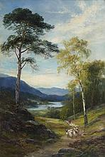 JOHN MACWHIRTER R.A., H.R.S.A., R.I., R.E (SCOTTISH 1839-1911) A HIGHLAND GLEN, INVERNESS-SHIRE 76cm x 51cm (30in x 20in)